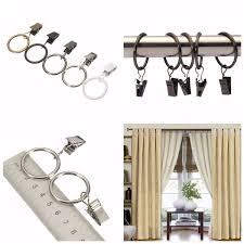 high quality 40pcs metal window bathroom curtain clips rings pole