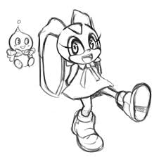 cream the rabbit sketch by chelostracks on deviantart