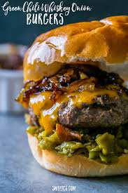 Backyard Grill Stuffed Burger Press by Check Out Green Chili Whiskey Onion Burgers It U0027s So Easy To Make