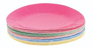 paper plates coated paper plates in bright shiny colours great for craft work