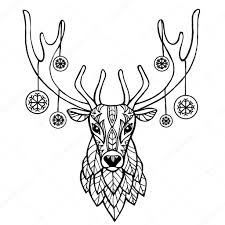 christmas deer christmas deer vector illustration ethnic animals