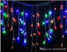 cheap 16ft 5m 200led icicle curtain led string lights snowing