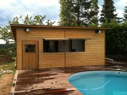 architecture wonderful small pool houses with rustic wooden prefab