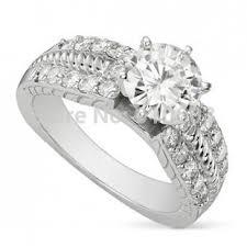 aliexpress buy 2ct brilliant simulate diamond men fashion center 2ct brilliant simulated diamond ring 9k