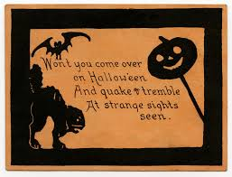 vintage halloween clip art cute card or invitation the
