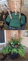 tree stump planters 24 colorful outdoor planters for winter and christmas decorations