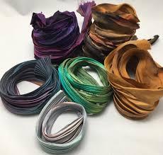 shibori ribbon with shibori ribbon