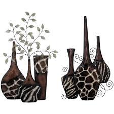 Animal Print Wall Decor Upc 814461021876 Set Of 2 Faux Animal Print Vases Wall Decor