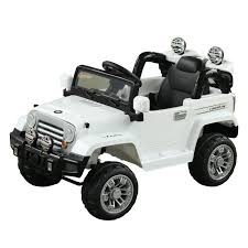 kids electric jeep aosom 12v kids electric battery powered ride on car truck w