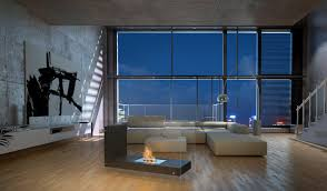 Interior Design Bio by Interior Design Style Loft Room Dining L Shape Bio Fireplace In