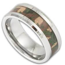 camo mens wedding bands s tungsten woodland camouflage wedding ring shop ring