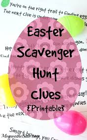 easter scavenger hunt printable easter scavenger hunt clues for kids and teens