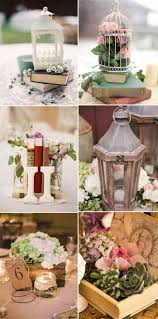 themed centerpieces for weddings vintage themed wedding centerpieces with lanterns and books