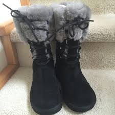 womens ugg montclair boots black 57 ugg shoes ugg montclair boot black gray shearling sz7