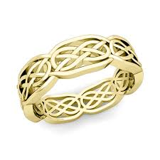 celtic wedding knot ceremony knot wedding band in 14k gold comfort fit wedding ring