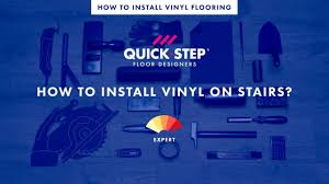 How To Put Laminate Flooring On Steps How To Install Vinyl On Stairs Tutorial By Quick Step Youtube