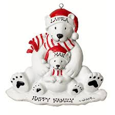 polar single with child personalized ornament