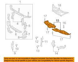 lexus es330 parts lexus oem 5144133060 02 06 es330 radiator support under cover