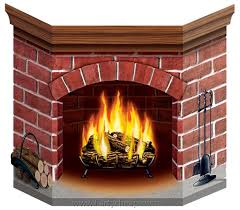 Flame Decorations Cardstock Brick Fireplace Stand Up Play Stuff Pinterest