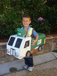 Truck Halloween Costume Diy Costume Idea Family Recycle Bins Garbage