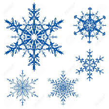 set of snowflakes on a white background stock photo picture and
