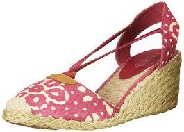 ralph lauren womens cala closed toe casual espadrille sandals red