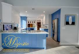 Blue And White Kitchen Custom Kitchen Blue U0026 White Majestic Custom Woodworks Inc