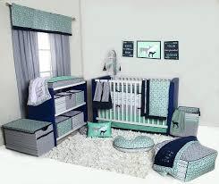 bacati noah tribal mint navy 10 pc crib set including bumper pad
