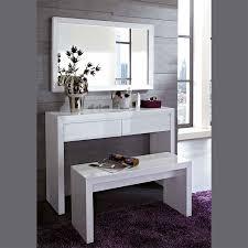 coiffeuse chambre meuble commode d entrée coiffeuse blanc laqué design meuble