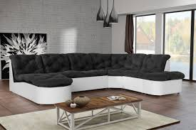 canape d angle noir canapé d angle modulable en tissu noir blanc cordoba canapé d