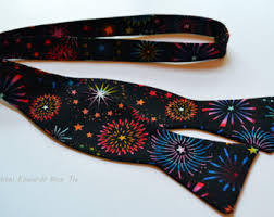 new years bow tie colorful bow tie etsy