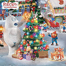 rudolph red nosed reindeer christmas town village collection