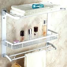 Shelves For Towels In Bathrooms Bathroom Shelf With Towel Rack Best Bathroom Towel Storage Ideas