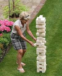 Backyard Jenga Set by Yard Games For Our Outdoor Reception Giant Jenga Set Up On A