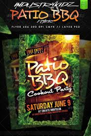 7 bbq party flyers psd vector eps indesign pdf file formats