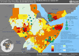 World Map Of Africa by Who Disease Maps Of Countries Affected By Food Insecurity And Famine