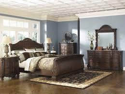 north 5 pc shore dresser mirror u0026 queen sleigh bed b553 131