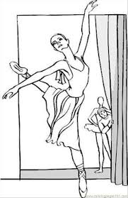 Ballerina Coloring Kids Coloring Ballerina Printable Coloring Pages