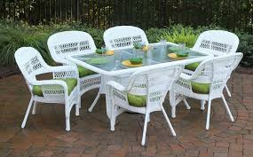 Cushions For Wicker Patio Furniture by Comfort And Aesthetics White Wicker Furniture With Cushions