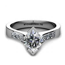 unique princess cut engagement rings verona unique princess cut engagement ring