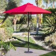 Aluminum Patio Umbrella by Coral Coast Key Largo 9 Ft Spun Poly Wood Market Umbrella