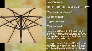 Aluminum Patio Umbrella by Patio Watcher 9 Ft Aluminum Patio Umbrella With Push Button Tilt