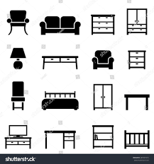 home decor line home decor furniture icon set stock vector 287547515 shutterstock