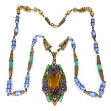 glass stone necklace images 853 best czech vintage jewelry images vintage jpg