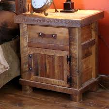 Rustic Pine Nightstand Rustic Nightstands Rustic Pine Nightstand Sanblasferry Bedroom