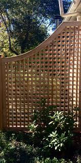 cedar greenwich square lattice fence panel atlas outdoor