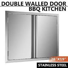 stainless steel kitchen cabinet doors uk 71x48cm bbq door island outdoor kitchen stainless steel
