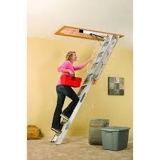 louisville attic ladder aluminum folding stairs pull down storage