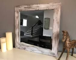 Rustic Vanity Mirrors For Bathroom - mirror wall mirror bathroom mirror rustic wood mirror wood
