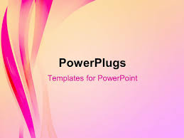 powerpoint template abstract elegant background with pink waves